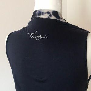Desigual Dresses - Desigual orchid flower print pencil dress w cowl